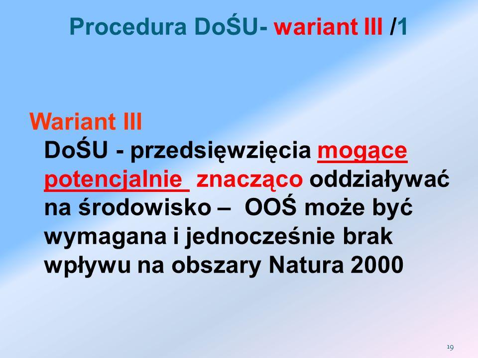 Procedura DoŚU- wariant III /1