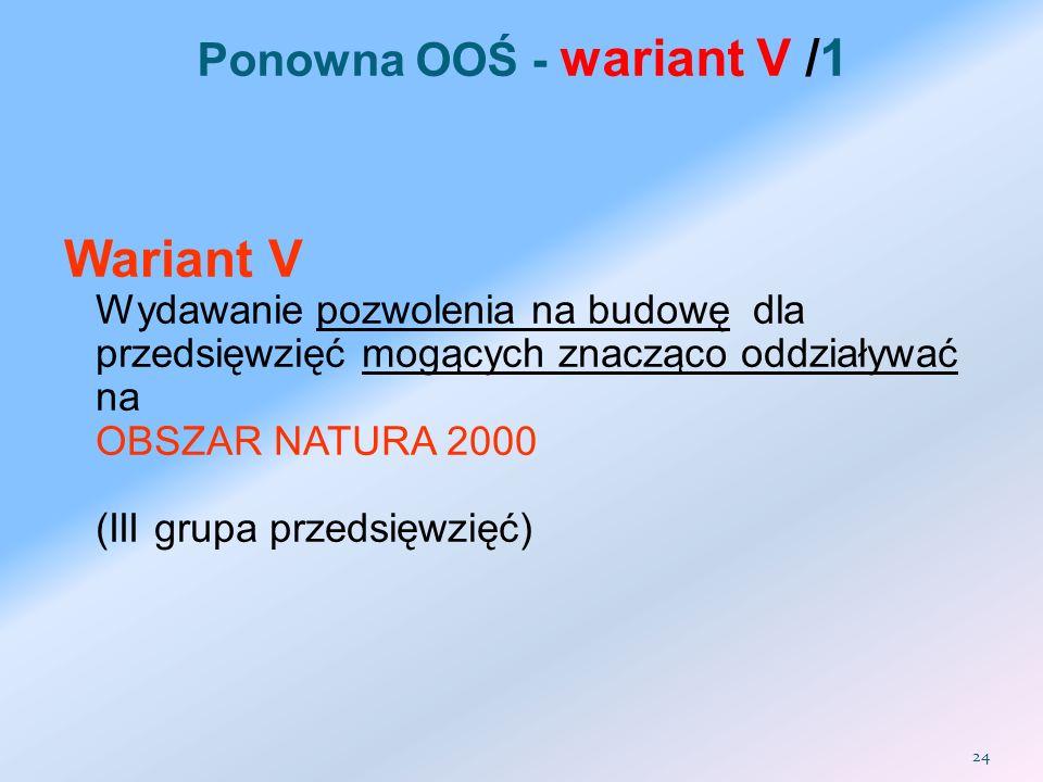 Ponowna OOŚ - wariant V /1