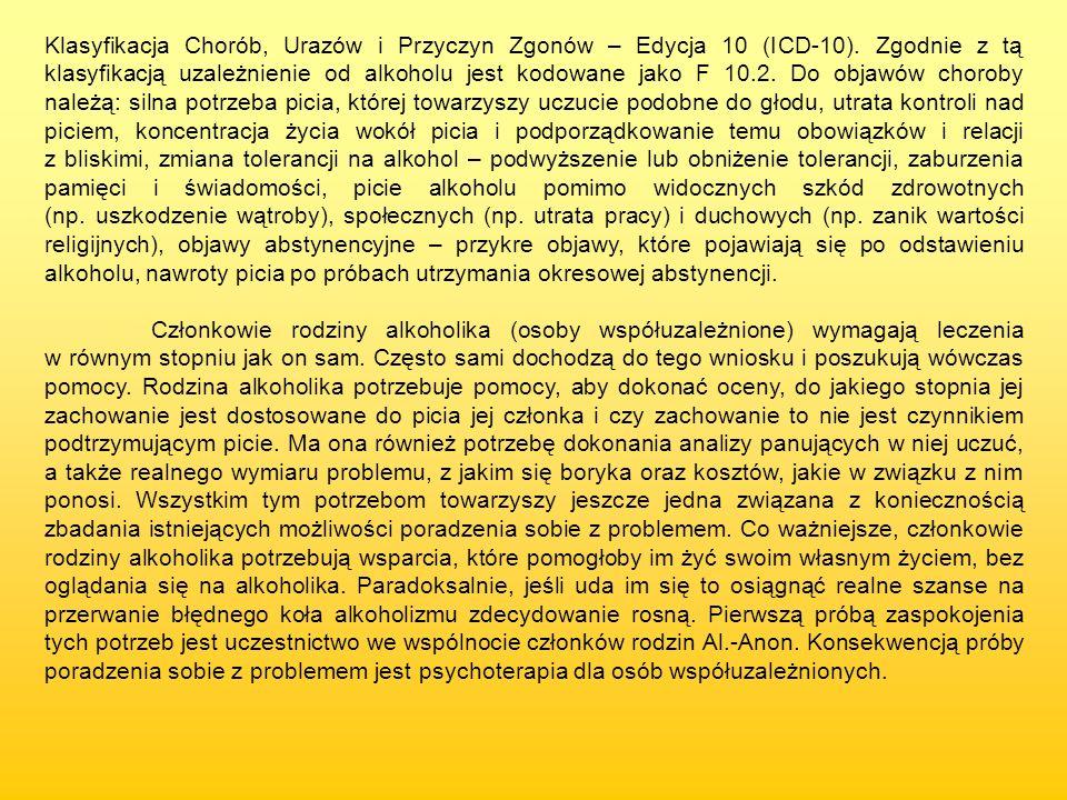 Klasyfikacja Chorób, Urazów i Przyczyn Zgonów – Edycja 10 (ICD-10)