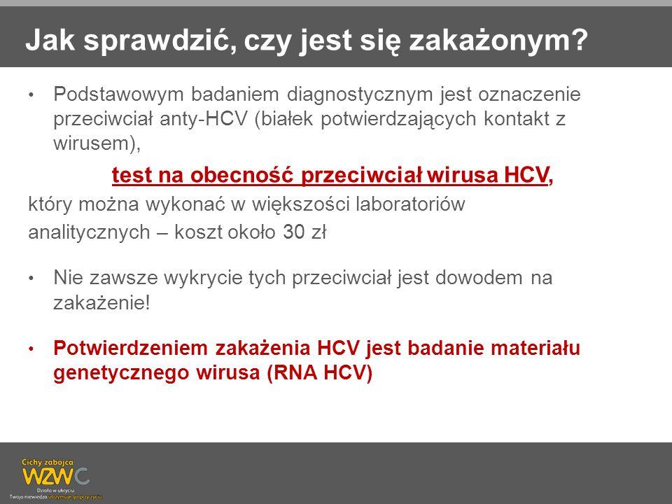 test na obecność przeciwciał wirusa HCV,