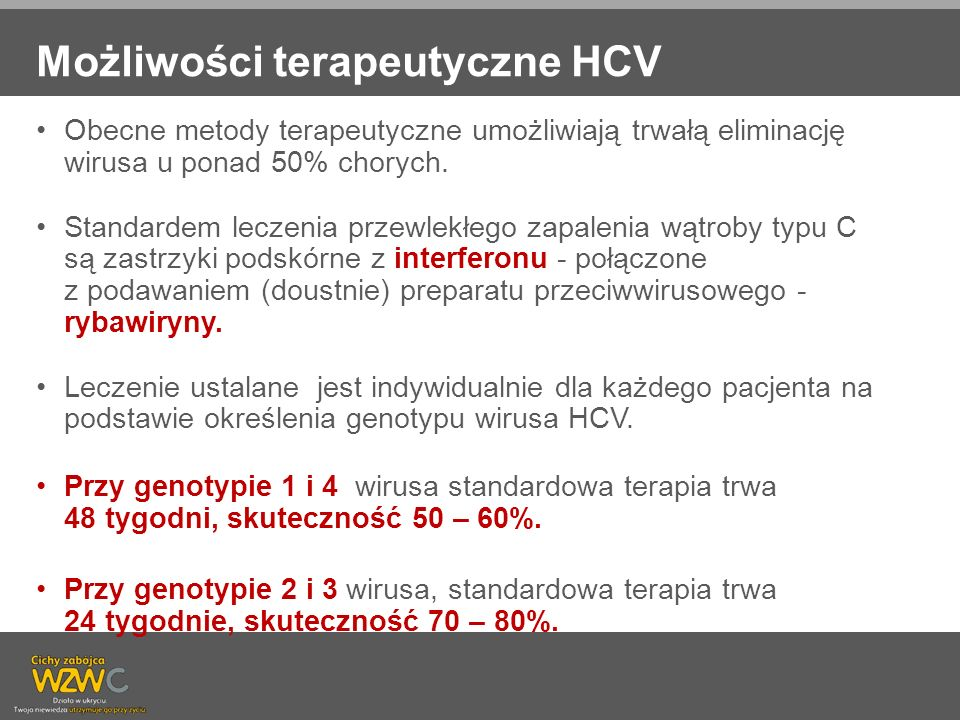 Możliwości terapeutyczne HCV