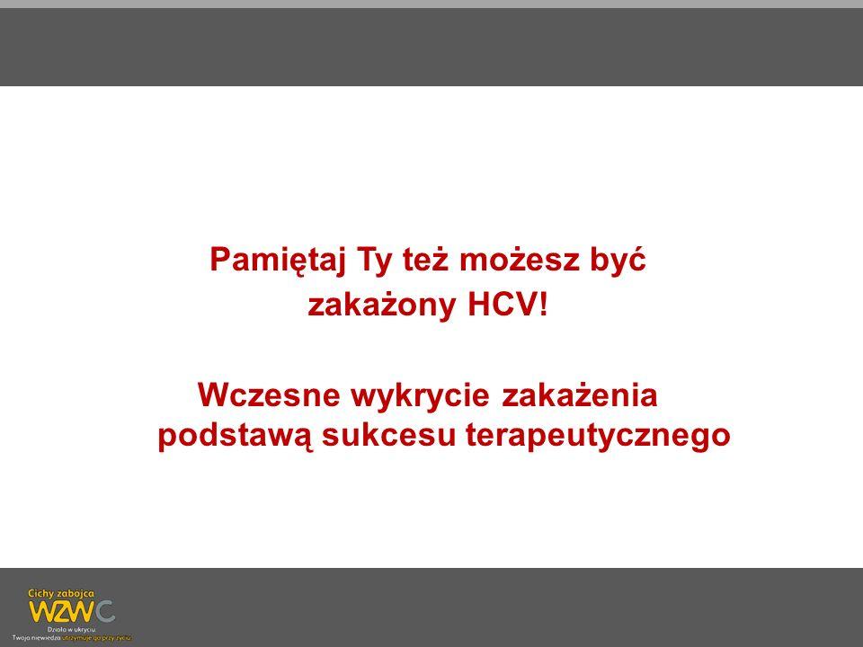 Pamiętaj Ty też możesz być zakażony HCV!