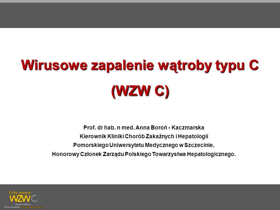 Wirusowe zapalenie wątroby typu C (WZW C)