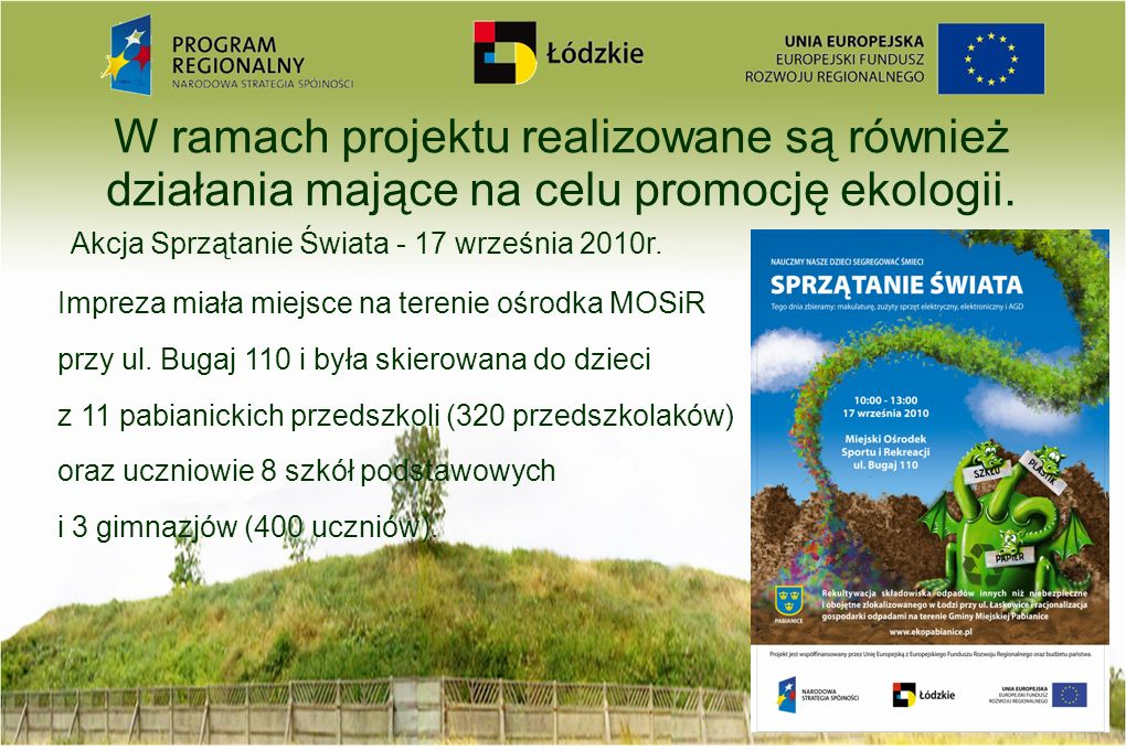 Akcja Sprzątanie Świata - 17 września 2010r.