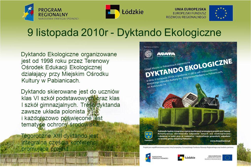9 listopada 2010r - Dyktando Ekologiczne