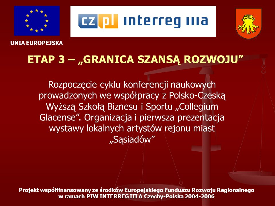 """ETAP 3 – """"GRANICA SZANSĄ ROZWOJU"""