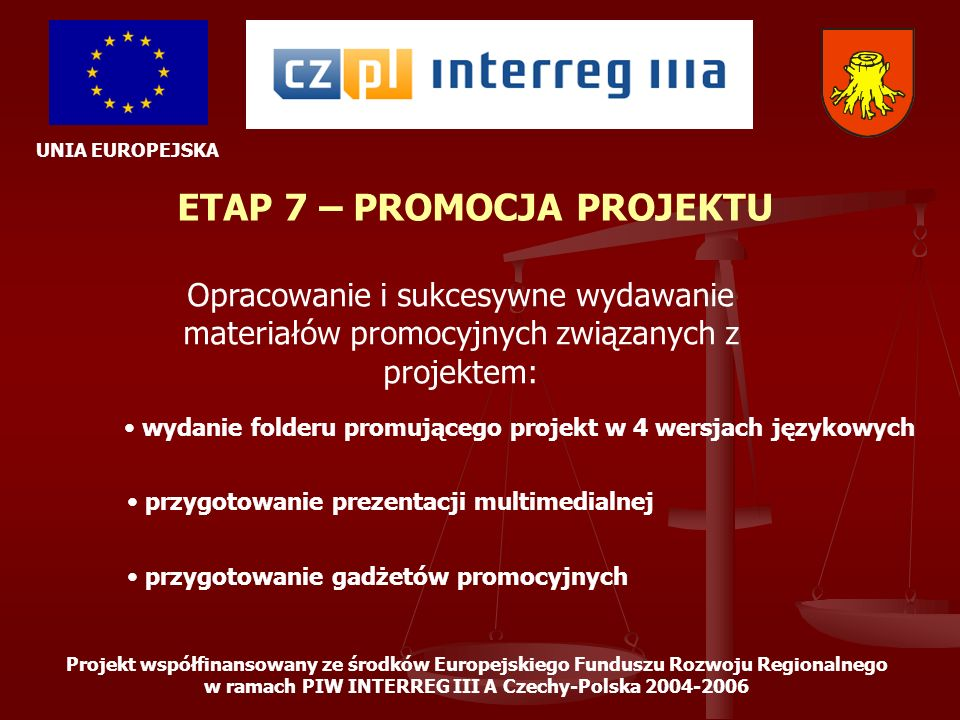 ETAP 7 – PROMOCJA PROJEKTU
