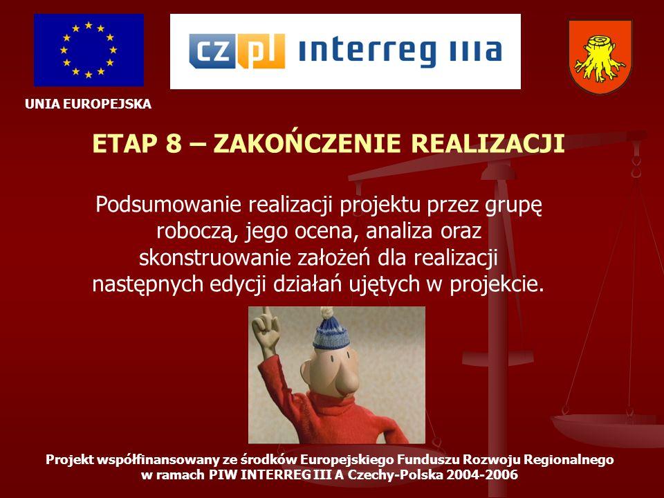 ETAP 8 – ZAKOŃCZENIE REALIZACJI
