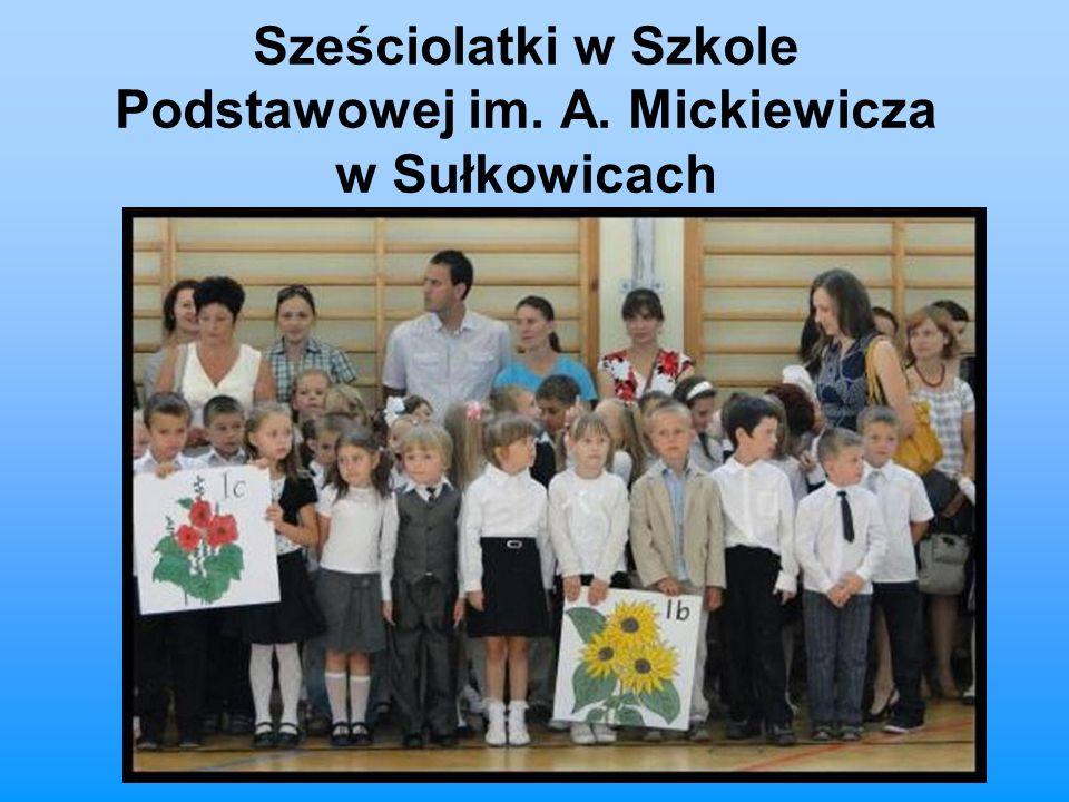 Sześciolatki w Szkole Podstawowej im. A. Mickiewicza w Sułkowicach
