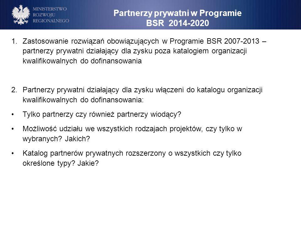 Partnerzy prywatni w Programie