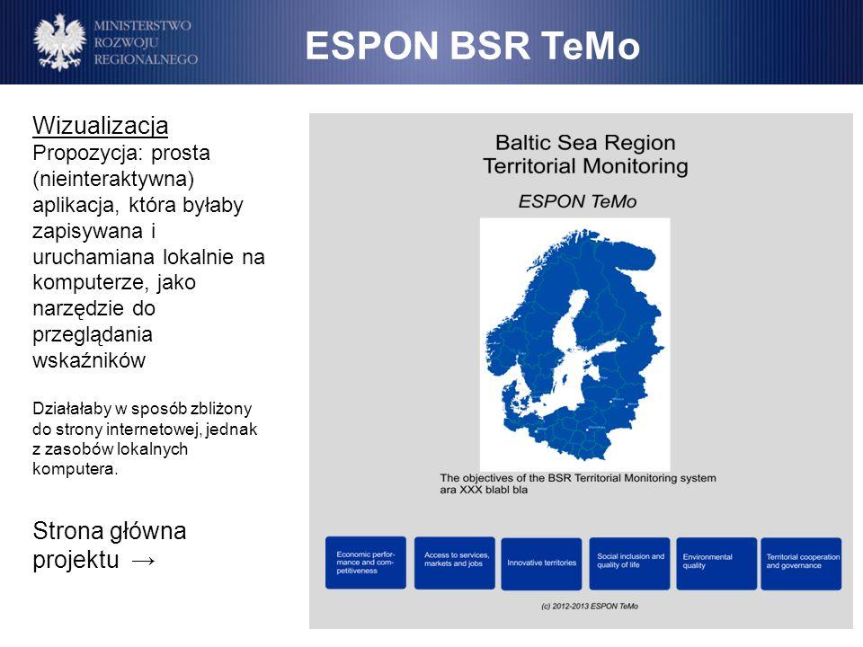 ESPON BSR TeMo Wizualizacja