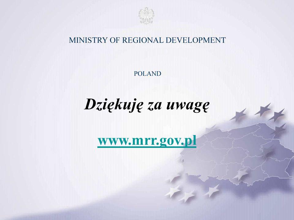Dziękuję za uwagę www.mrr.gov.pl