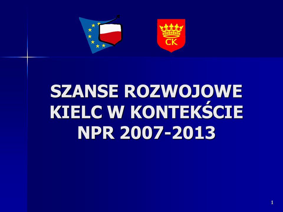 SZANSE ROZWOJOWE KIELC W KONTEKŚCIE NPR 2007-2013