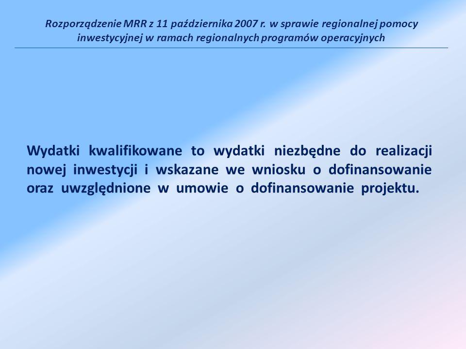 Rozporządzenie MRR z 11 października 2007 r