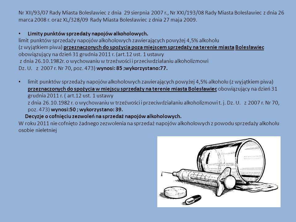 Nr XII/93/07 Rady Miasta Bolesławiec z dnia 29 sierpnia 2007 r