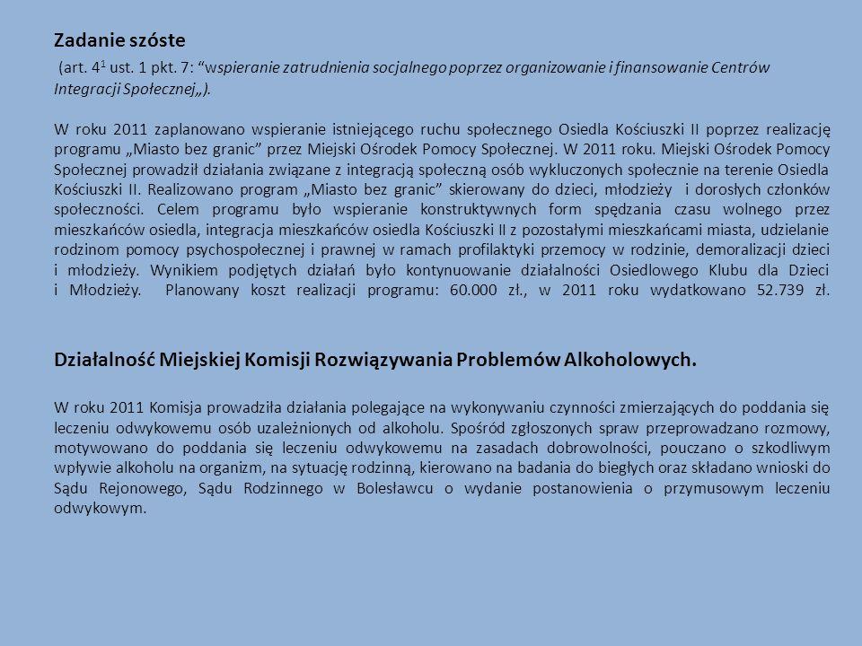 Działalność Miejskiej Komisji Rozwiązywania Problemów Alkoholowych.