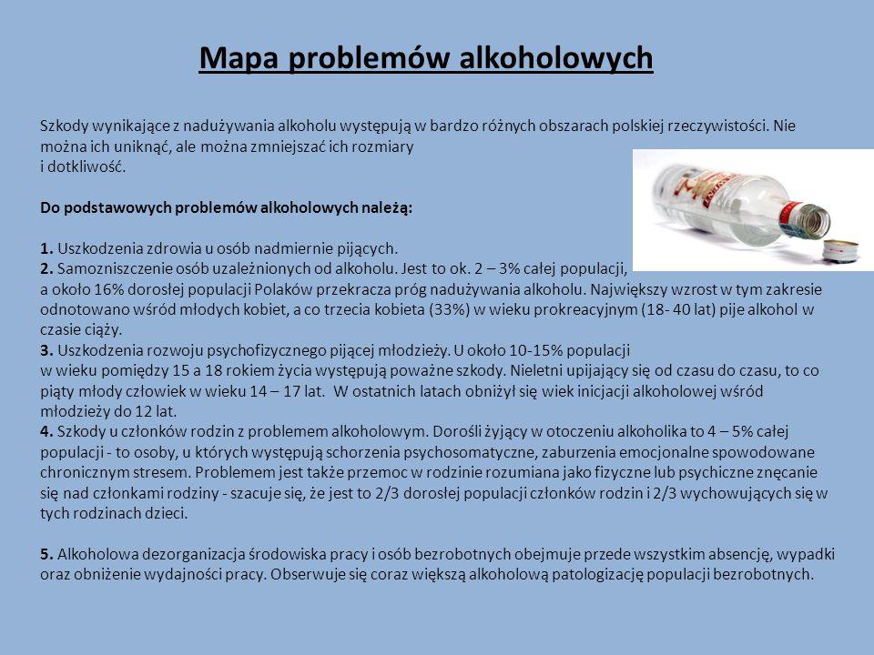 Mapa problemów alkoholowych