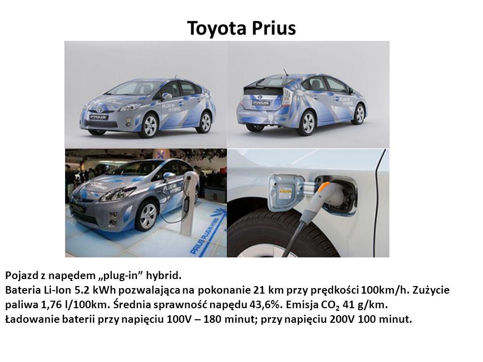"Toyota Prius Pojazd z napędem ""plug-in hybrid."