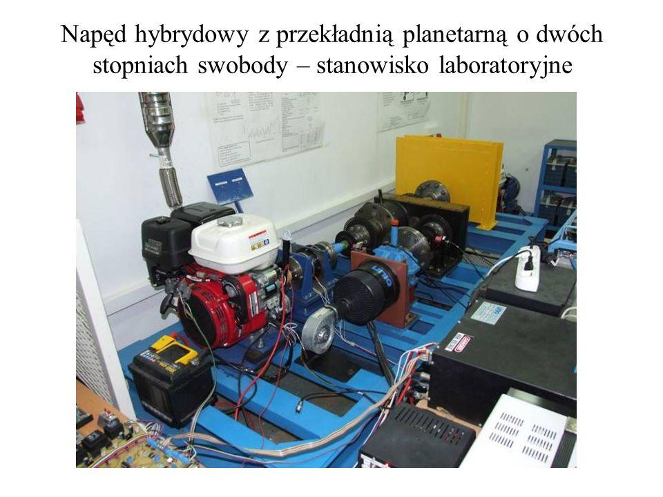 Napęd hybrydowy z przekładnią planetarną o dwóch stopniach swobody – stanowisko laboratoryjne