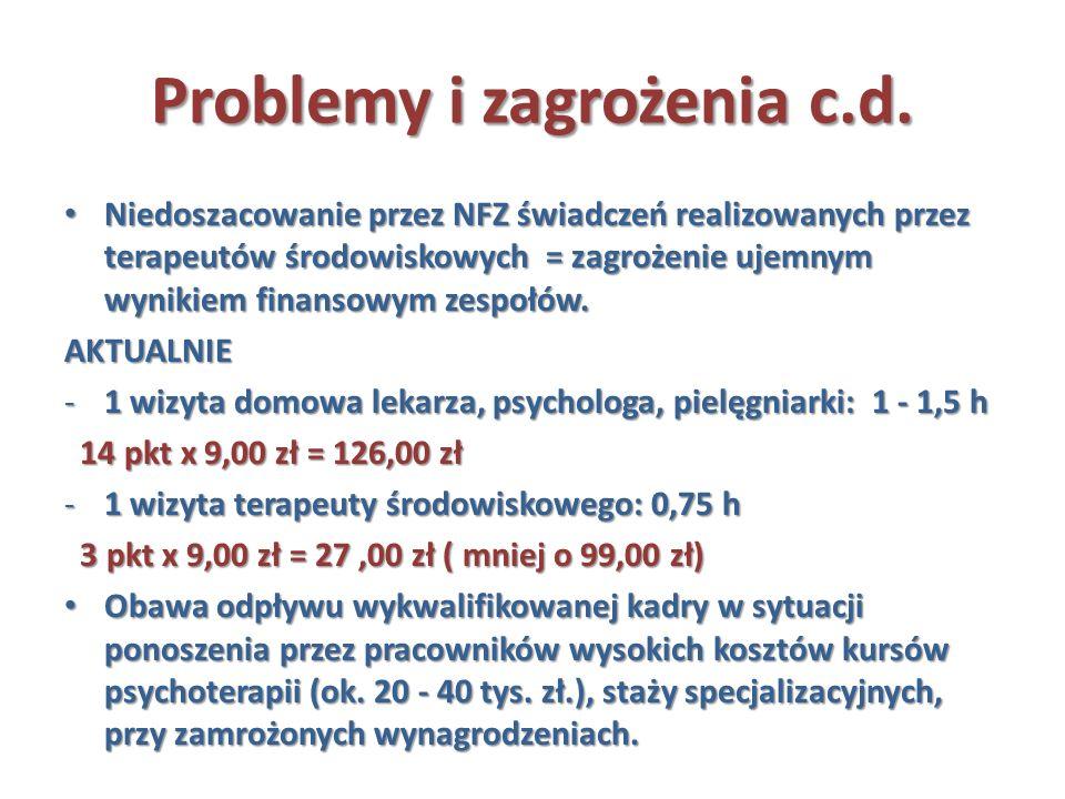 Problemy i zagrożenia c.d.