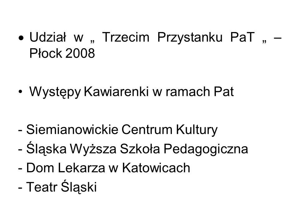 """Udział w """" Trzecim Przystanku PaT """" – Płock 2008"""