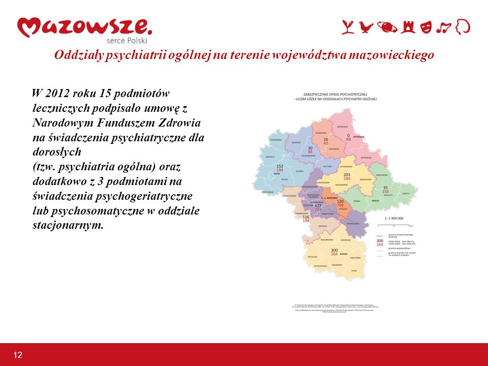 Oddziały psychiatrii ogólnej na terenie województwa mazowieckiego