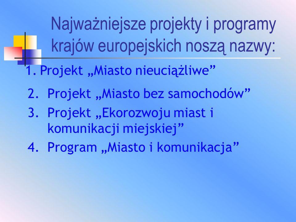 Najważniejsze projekty i programy krajów europejskich noszą nazwy: