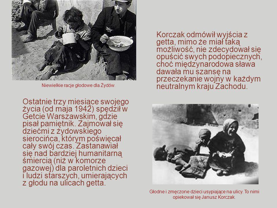Niewielkie racje głodowe dla Żydów.