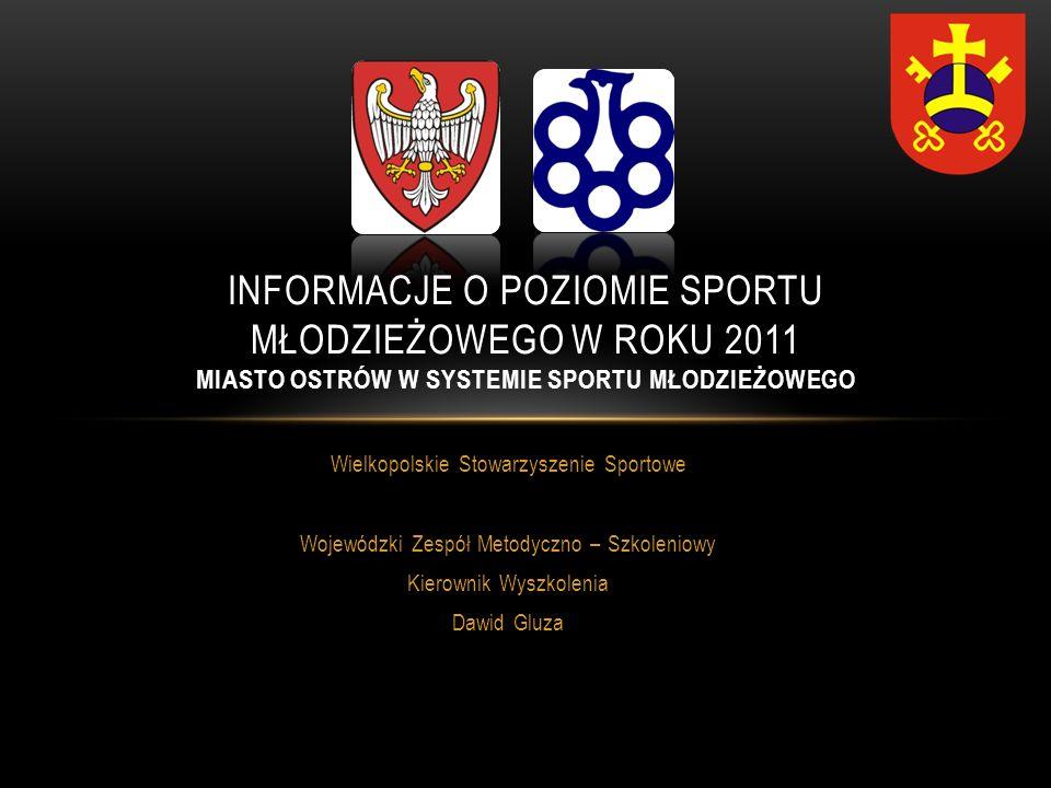 Informacje o poziomie sportu młodzieżowego w roku 2011 MIASTO OSTRÓW W SYSTEMIE SPORTU MŁODZIEŻOWEGO