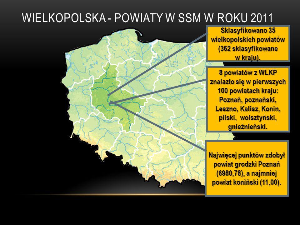 WIELKOPOLSKA - POWIATY W SSM W ROKU 2011