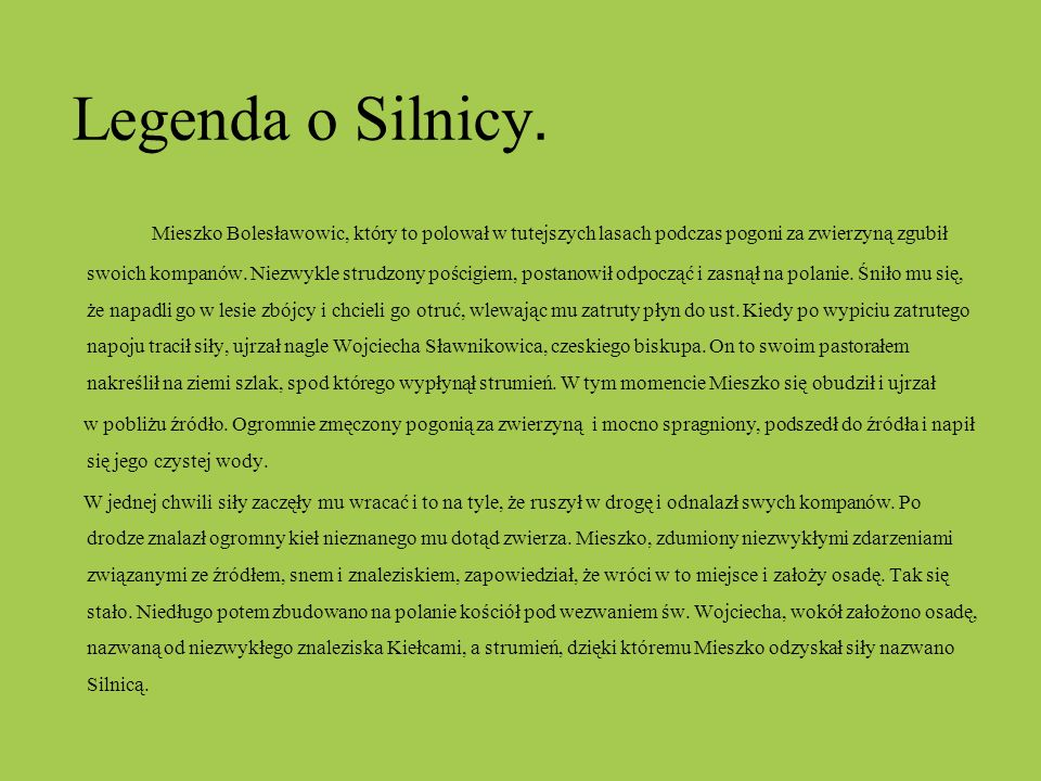 Legenda o Silnicy.