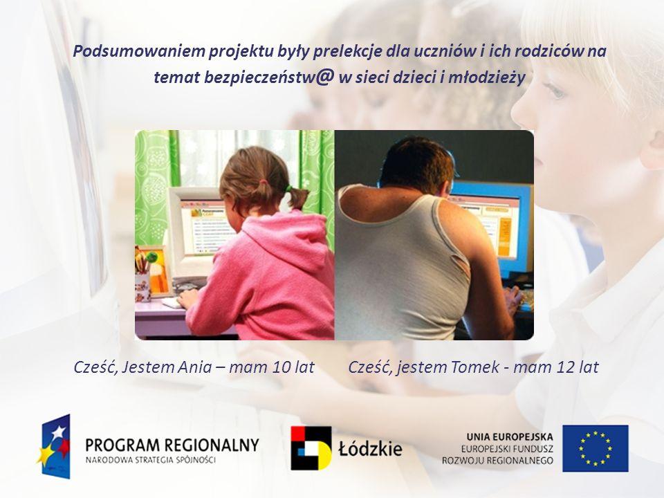 Podsumowaniem projektu były prelekcje dla uczniów i ich rodziców na temat bezpieczeństw@ w sieci dzieci i młodzieży