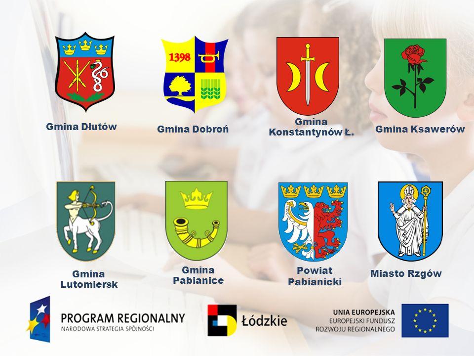 Gmina DłutówGmina Dobroń. Gmina Lutomiersk. Gmina Pabianice. Miasto Rzgów. Powiat Pabianicki. Gmina Ksawerów.