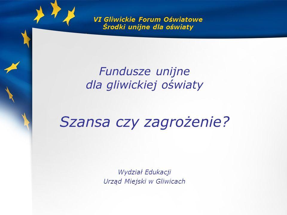 VI Gliwickie Forum Oświatowe Środki unijne dla oświaty