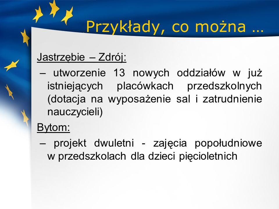 Przykłady, co można … Jastrzębie – Zdrój: