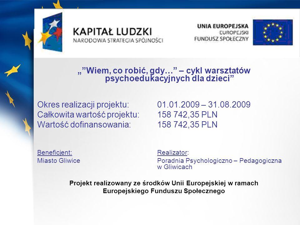 Okres realizacji projektu: 01.01.2009 – 31.08.2009