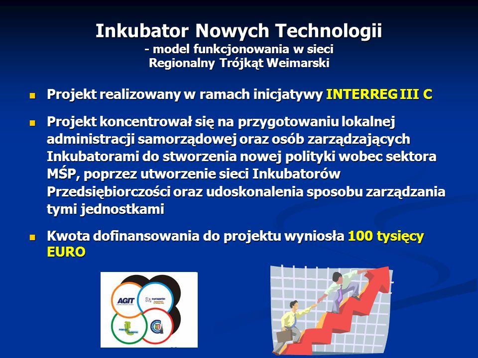 Inkubator Nowych Technologii - model funkcjonowania w sieci Regionalny Trójkąt Weimarski