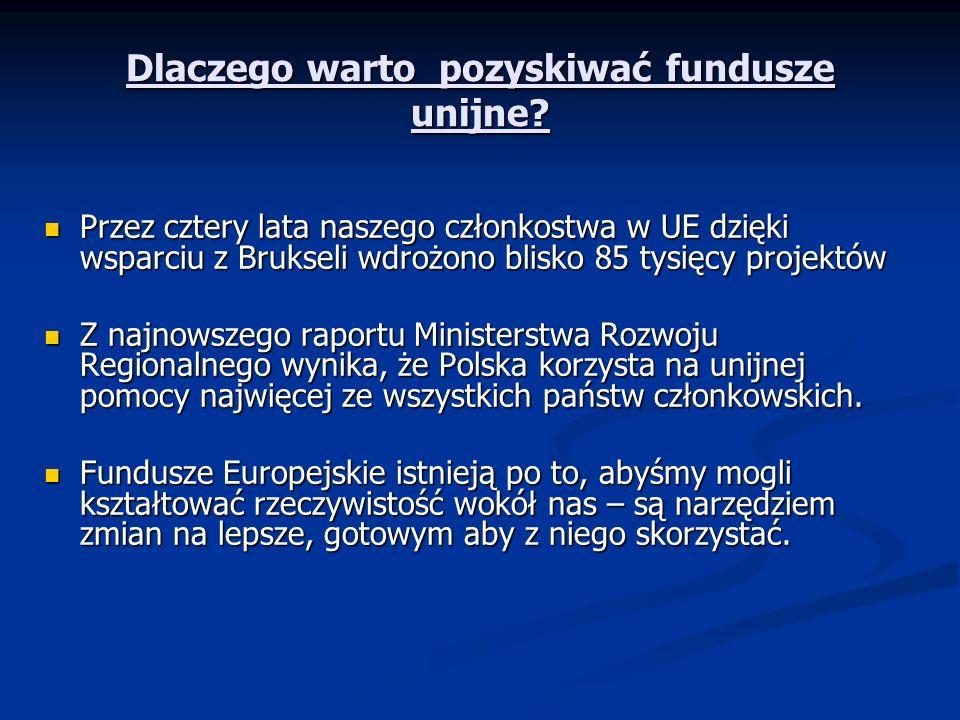 Dlaczego warto pozyskiwać fundusze unijne