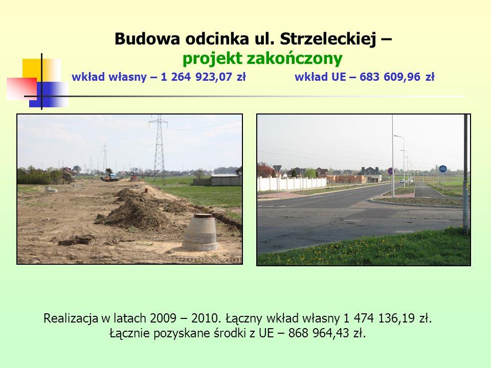 Budowa odcinka ul. Strzeleckiej – projekt zakończony