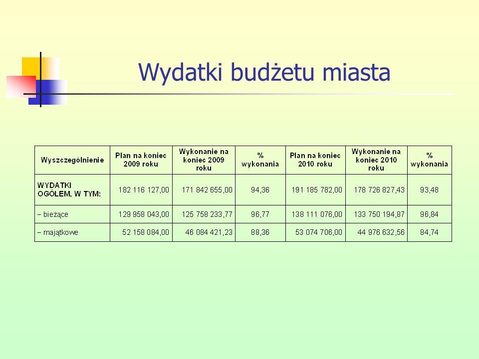 Wydatki budżetu miasta