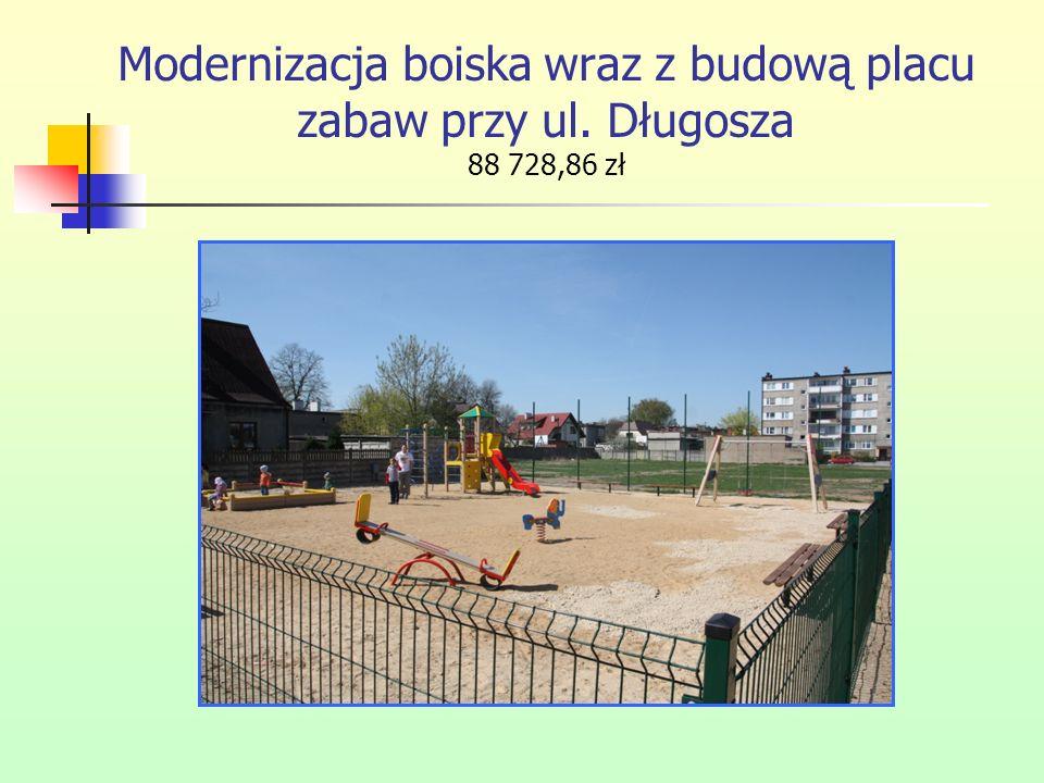 Modernizacja boiska wraz z budową placu zabaw przy ul