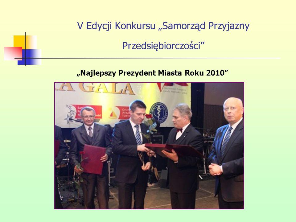 """V Edycji Konkursu """"Samorząd Przyjazny Przedsiębiorczości"""