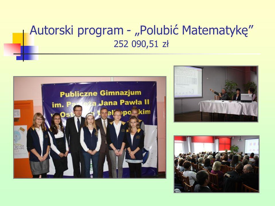 """Autorski program - """"Polubić Matematykę 252 090,51 zł"""