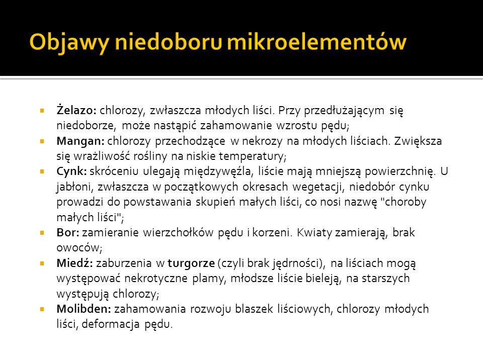 Objawy niedoboru mikroelementów