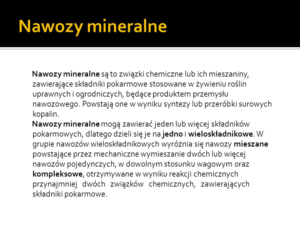 Nawozy mineralne