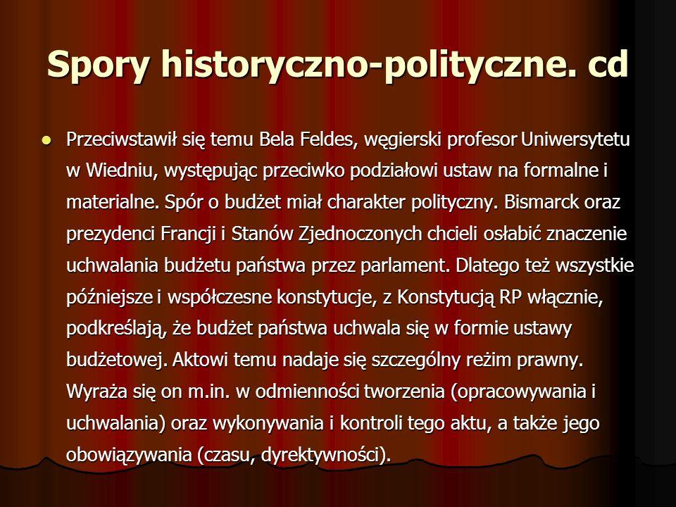 Spory historyczno-polityczne. cd