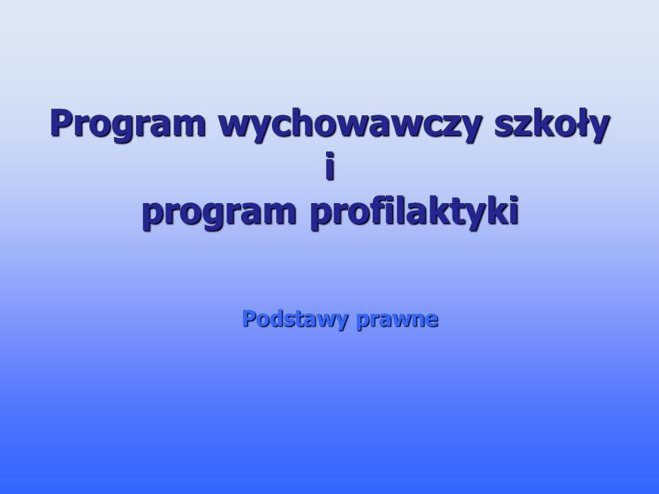 Program wychowawczy szkoły i program profilaktyki