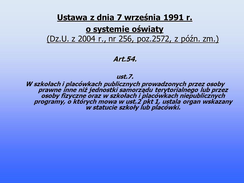 Ustawa z dnia 7 września 1991 r.