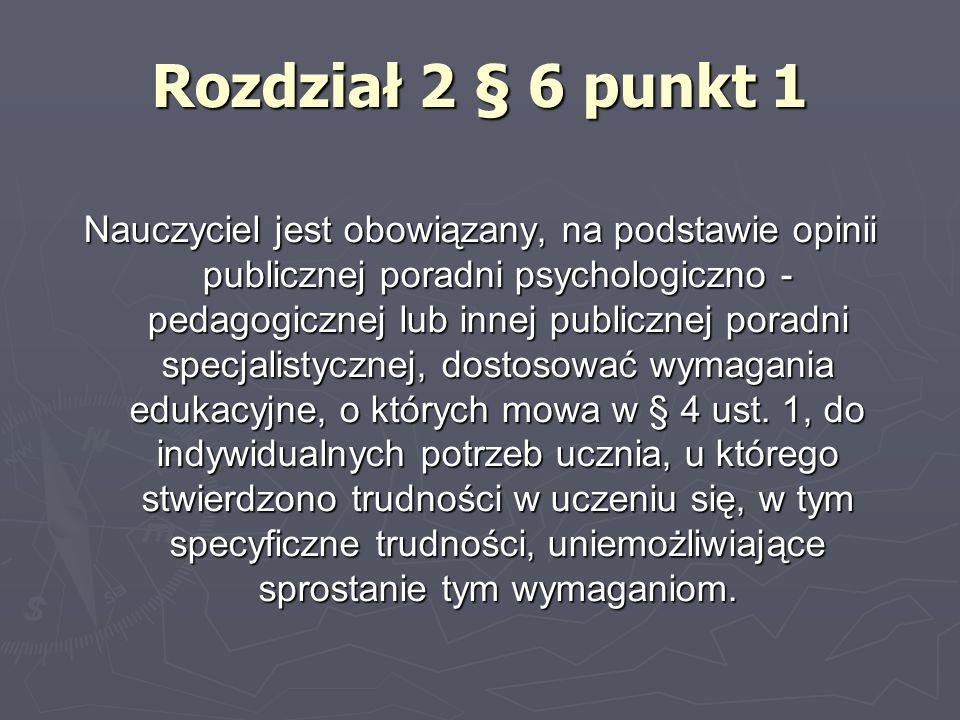 Rozdział 2 § 6 punkt 1