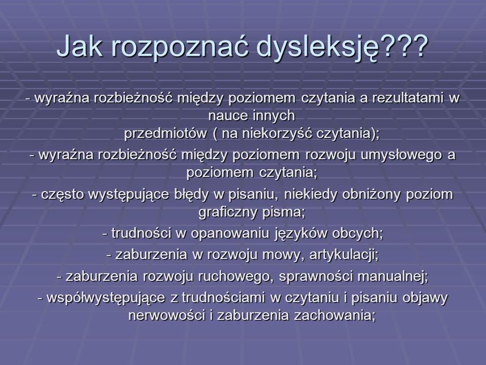 Jak rozpoznać dysleksję